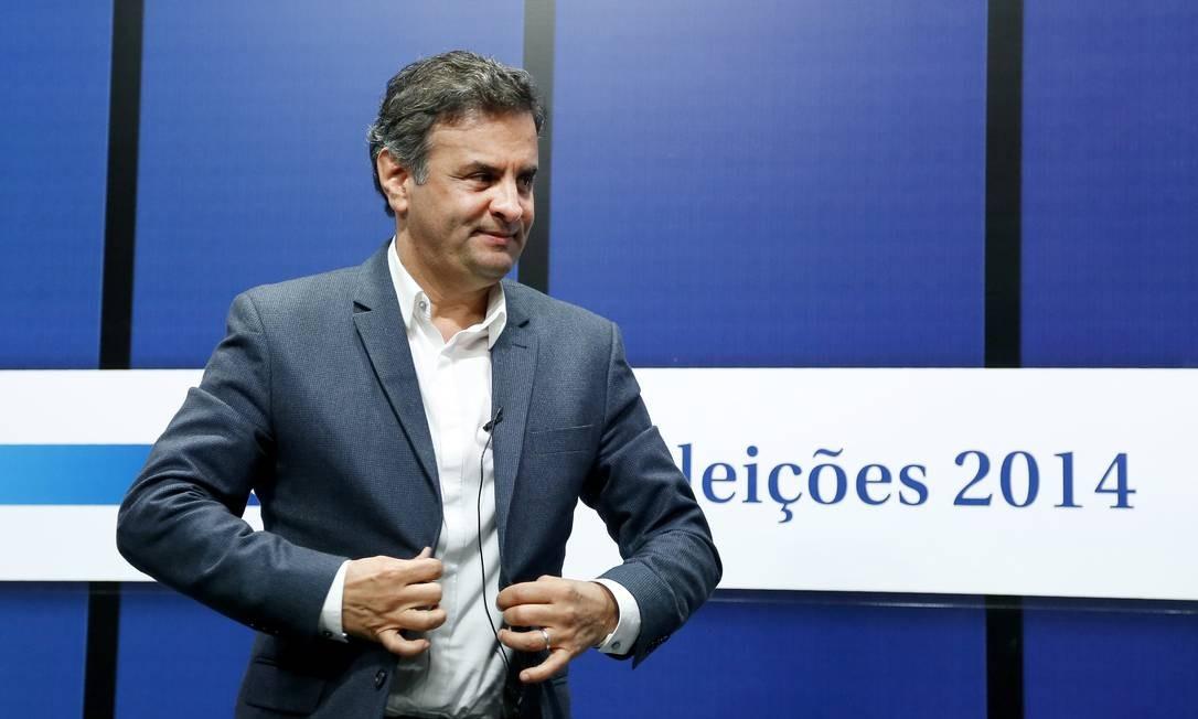 Aécio na sabatina O Globo, em setembro, com candidatos à Presidância da República no museu MAR Foto: Ivo Gonzalez / Agência O Globo