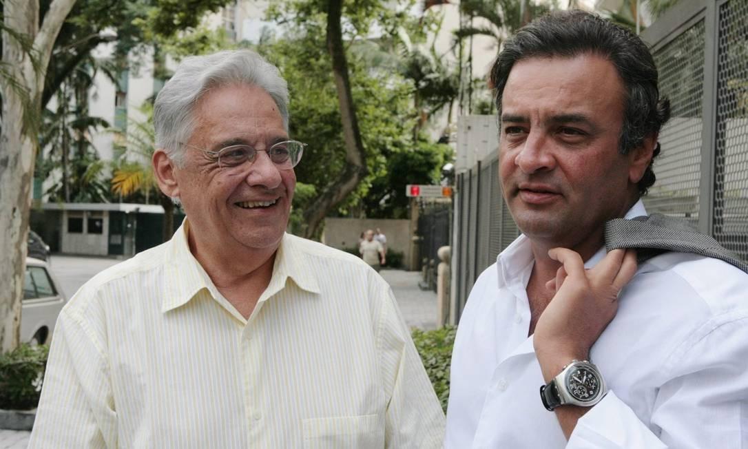 Em 2010, encontro com Fernando Herinque Cardoso em São Paulo Foto: Marcos Alves / Agência O Globo