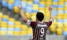 Fred comemora o gol que deu a vitória ao Fluminense no Maracanã Foto: Cezar Loureiro / Agência O Globo