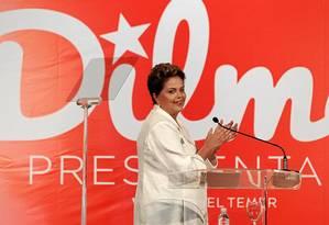 Dilma é reeleita presidente na eleição mais acirrada desde a redemocratização do país Foto: Jorge William / Agência O Globo/4-10-2014