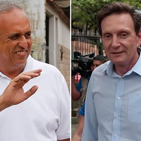 Os candidatos ao governo do Rio Pezão e Crivella Foto: O GLOBO