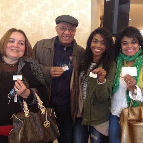 Rosimeire, Gilmar, Lara, Lígia e Ana votaram na capital americana Foto: Flávia Barbosa / O Globo