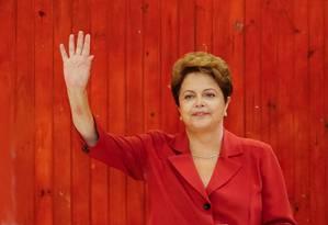 Dilma Rousseff, do PT Foto: O GLOBO