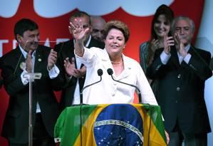 Dilma discursa após ser reeleita Foto: UESLEI MARCELINO / REUTERS