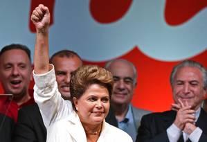 Dilma Rousseff: 'Conclamo, sem exceção, a todas as brasileiras e todos os brasileiros para nos unirmos em favor do futuro da nossa pátria, do nosso país e de nosso povo' Foto: EVARISTO SA / AFP