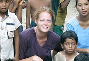 Kaci Hickox fez trabalho voluntário em Serra Leoa e não apresentou sintomas de ebola Foto: Uncredited / AP