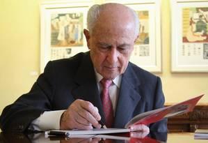 Lázaro de Mello Brandão, presidente do Conselho de Administração do Bradesco Foto: Marcos Alves / O Globo/17-10-2012