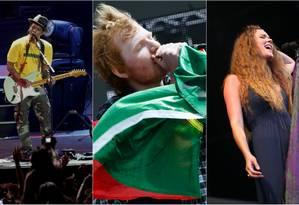 Bruno Mars, Ed Sheeran e Joss Stone: Rock in Rio Las Vegas Foto: Arquivo