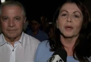 Suely Campos (PP), comemorou vitória ao lado do marido, Neudo Campos (PP) Foto: TV / Reprodução