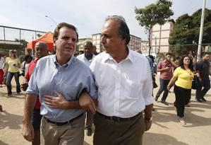"""O prefeito do Rio, Eduardo Paes, disse que o """"Dilmão"""" venceu o """"Aezão"""" no estado Foto: Pablo Jacob / Agência O Globo"""