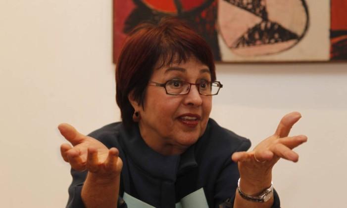 A ex-deputada Aspásia Camargo (PV): 'Enxergamos as coisas de uma forma muito semelhante' Foto: Marcelo Carnaval / Agência O Globo (04/09/2012)