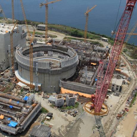 A Usina de Angra 3: PV diz que governo alemão não conseguiu evitar construção da terceira usina de Angra Foto: Terceiro / Divulgação/7-2-2013