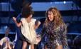 Com o marido, Jay Z, e a filha, Blue Ivy, Beyoncé foi um dos grandes destaques da edição de 2014 do VMA
