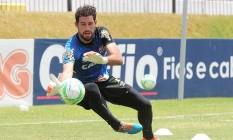 O goleiro Martín Silva em treino do Vasco Foto: MarceloSadio / Vasco da Gama