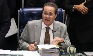O presidente do Senado, Renan Calheiros Foto: Ailton de Freitas 29/10/2014 / O Globo