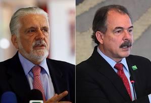 Jaques Wagner é o atual governador da Bahia e Aloisio Mercadante, o ministro da Casa Civil Foto: Arte O Globo