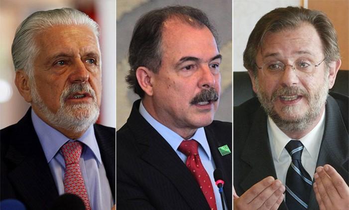 Jaques Wagner, Aloisio Mercadante e Miguel Rossetto Foto: Arte O Globo