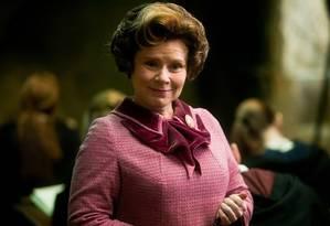 A personagem Dolores Umbridge, de 'Harry Potter' Foto: Reprodução