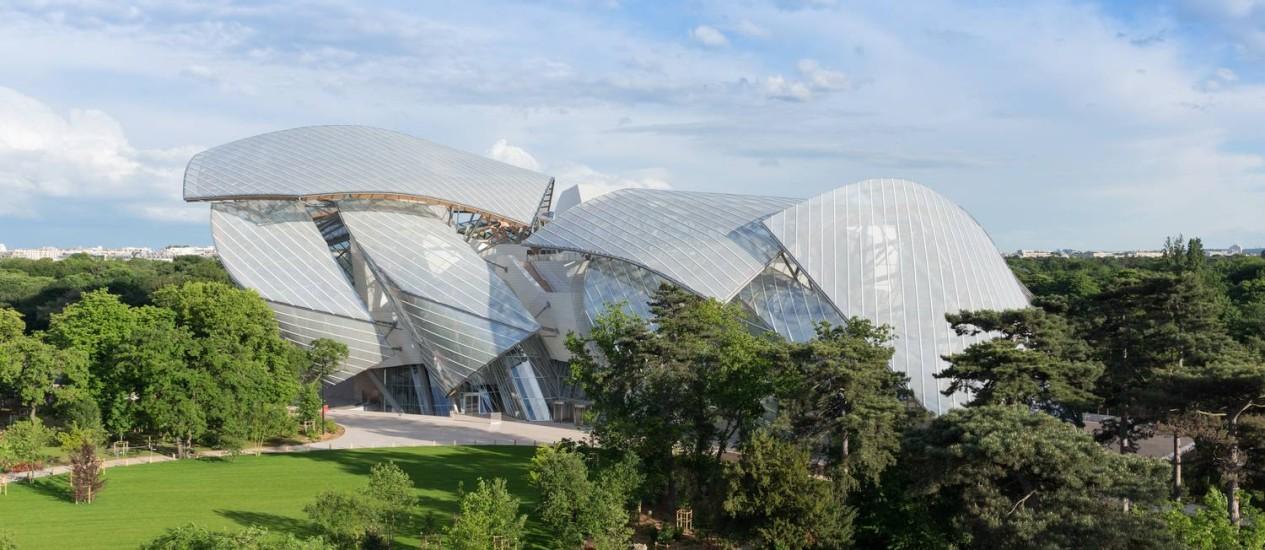 O arquiteto Frank Gehry assina o prédio da Fundação Louis Vuitton, que acaba de ser inaugurada Foto: Iwan Baan / Fondation Louis Vuitton/Divulgação