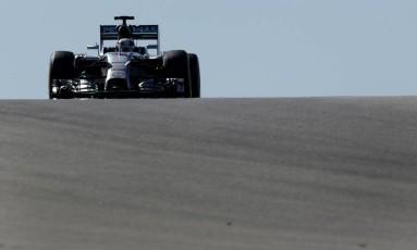 O britânico Lewis Hamilton, da Mercedes, foi o mais rápido em Austin Foto: Eric Gay / AP