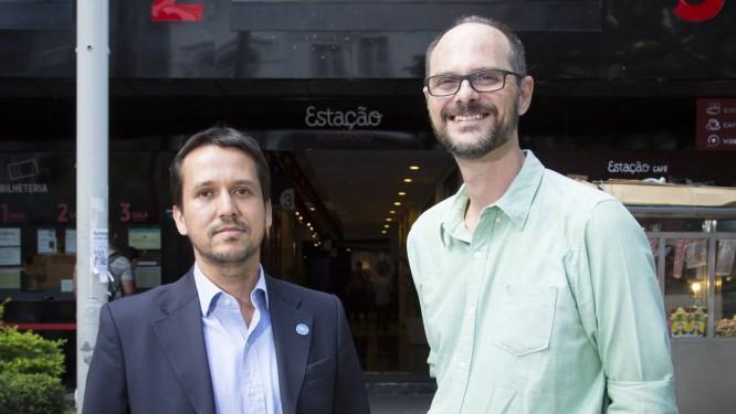 União. Rodrigo Marques, vice-presidente da Net, e França Mendes: parceria por 'muitos anos' Foto: Leo Martins / Agência O Globo