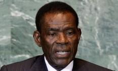 O presidente da Guiné Equatorial Teodoro Obiang Nguema Foto: Richard Drew / Photograph: Richard Drew/AP