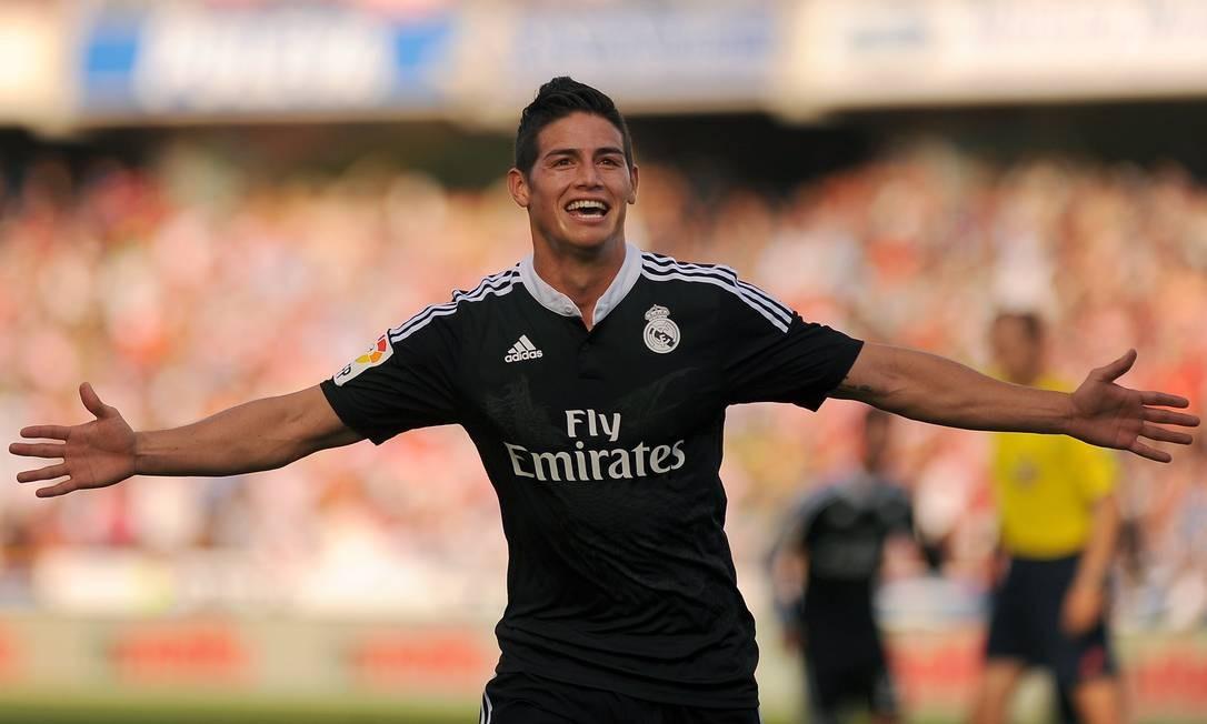 O camisa 10 marcou duas vezes no jogo que deu ao Real Madrid a liderança do Campeonato Espanhol Foto: Jorge Guerrero / AFP