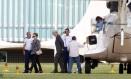 Dilma Rousseff desembarca em Brasília após quatro dias de descanso na Bahia Foto: Givaldo Barbosa / O Globo