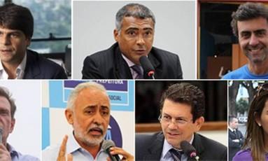 Candidatos à Prefeitura do Rio Foto: O Globo