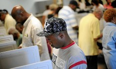 Primeira vez. Bobby Wallace estreia numa eleição em votação antecipada em Decatur, na Geórgia, semana passada. Aumento de negros torna Sul mais heterogêneo. Foto: CHRIS RANK / CHRIS RANK/BLOOMBERG NEWS