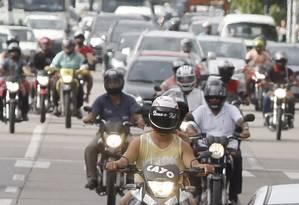 Excesso. Em Pernambuco, há quase 1 milhão de motos. O estado vê acidentes como epidemia Foto: Hans von Manteuffel