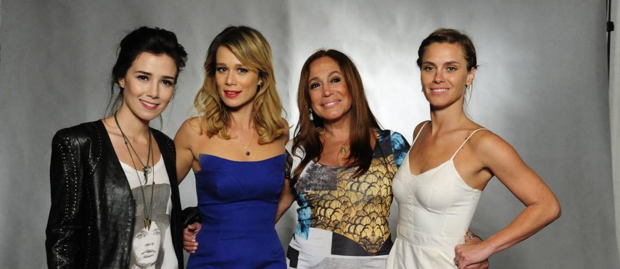 Marjorie Estiano, Mariana Ximenes, Susana Vieira e Carolina Dieckmann Foto: Globo/Estevam Avellar