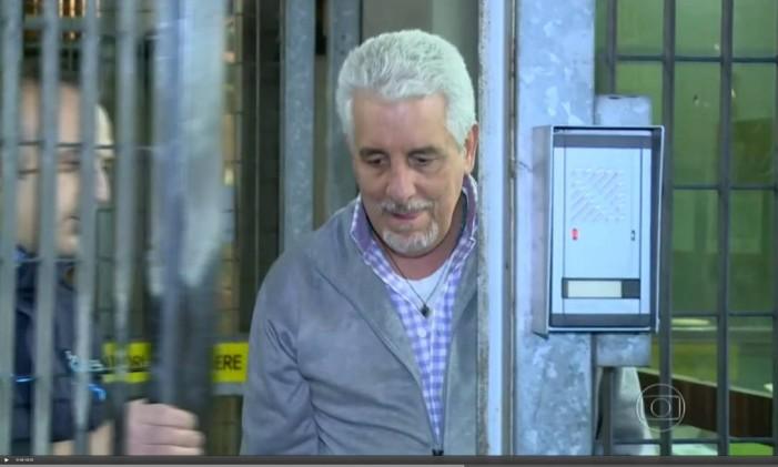 <br /> Condenado a 12 anos e sete meses de prisão pelo mensalão, Pizzolato vive na Itália após ser solto pela Justiça italiana que não aceitou o pedido de extradição do Brasil<br /> Foto: Reprodução da TV 28/10/2014