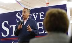 Líder da Câmara, John Boehner, durante evento do Partido Republicano. Partido espera aumentar número de cadeiras Foto: Eamon Queeney / AP
