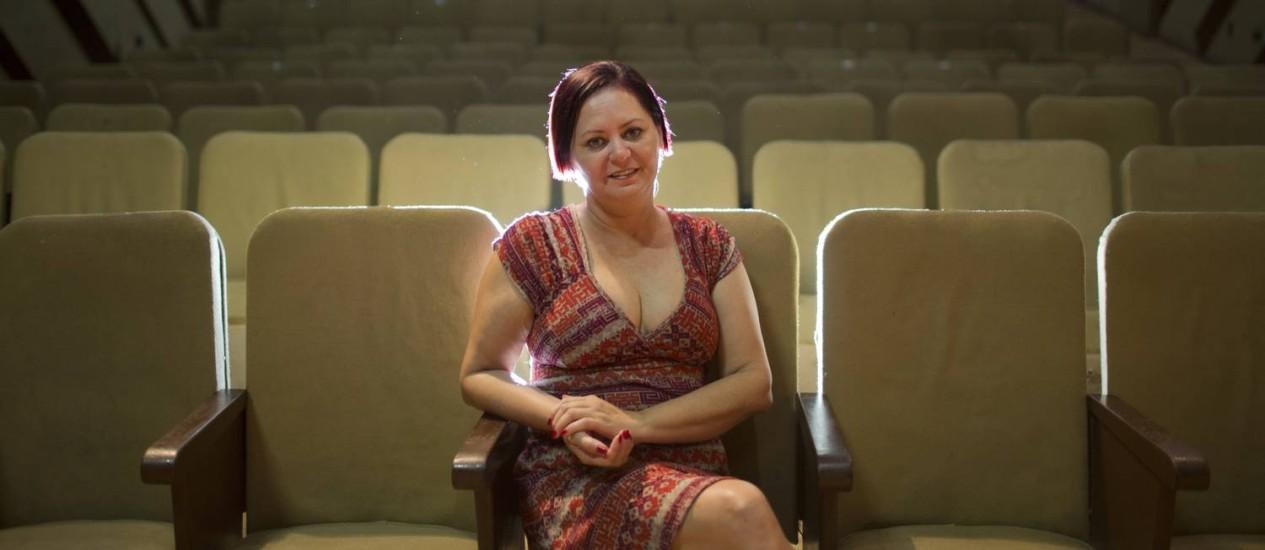 Cristiane Pimenta, idealizadora do evento, no Teatro Dercy Gonçalves, no Grajaú Foto: Hudson Pontes / Divulgação