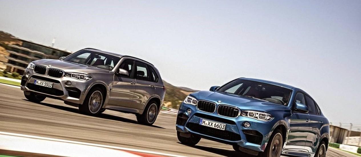 BMW X5M e X6M 2015 Foto: Divulgação
