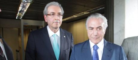 Temer durante encontro com Eduardo Cunha quando era ainda vice de Dilma Foto: Ailton de Freitas / O Globo/Arquivo