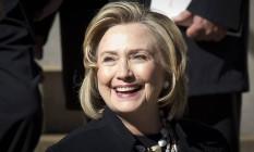 Hillary Clinton. Ex-primeira-dama sai como principal nome na disputa presidencial de 2016 Foto: CARLO ALLEGRI / REUTERS