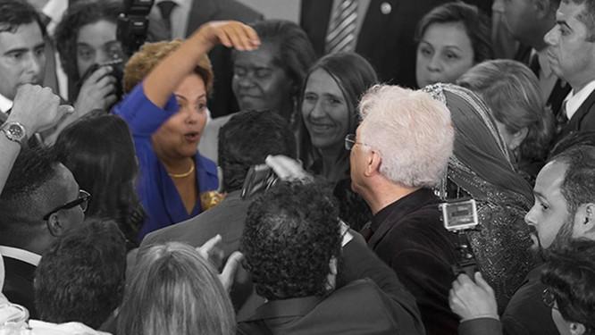 Dilma e Aguinaldo em Brasília Foto: Fco.Patricio / Reprodução/Aguinaldo Silva Digital