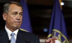 John Boehner. Em coletiva, líder da Câmara afirmou que Obama arruinará chances de reforma na imigração caso aposte em ações unilaterais Foto: GARY CAMERON / Reuters