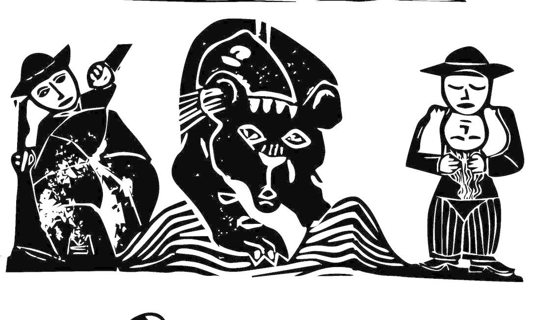 """Ilustração de Marcelo Soares para o livro """"Romance do bordado e da pantera negra"""", com textos de Raimundo Carrero e Ariano Suassuna Foto: Marcelo Soares / Divulgação"""