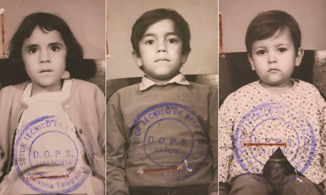 Crianças filhas de perseguidos pela ditadura militar no Brasil eram fichadas pelo Dops Foto: Arquivo Público do Esado de São Paulo / Reprodução
