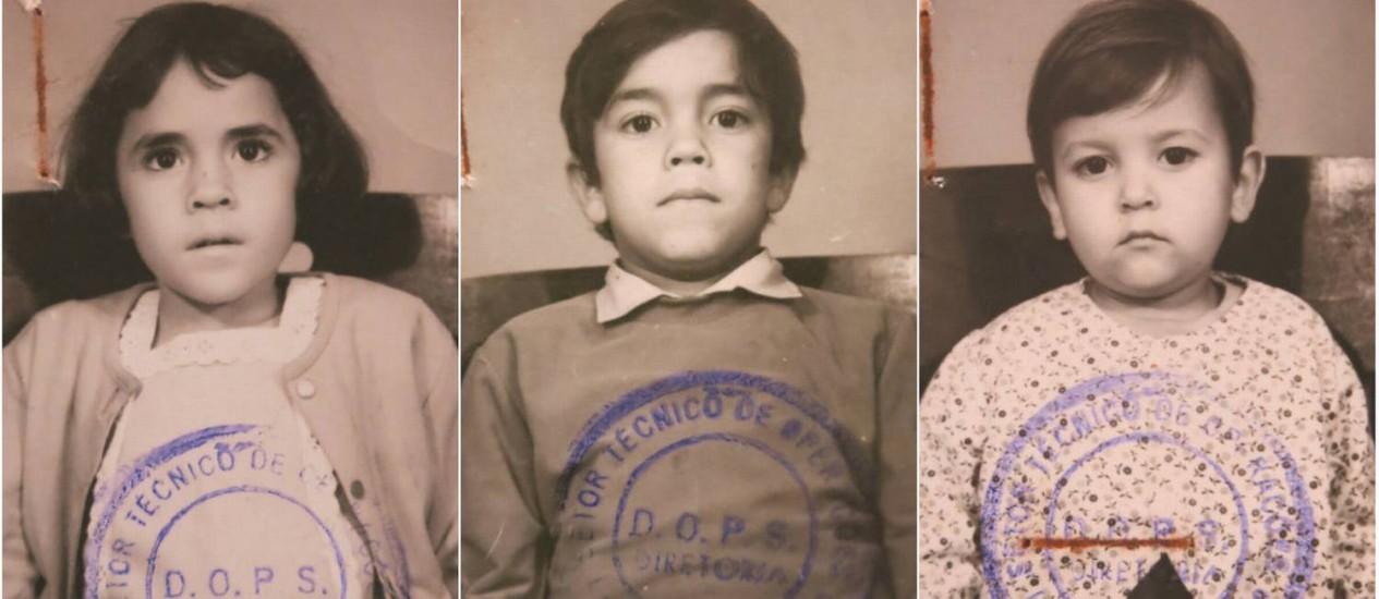 Crianças filhas de perseguidos pela ditadura militar no Brasil eram fichadas pelo Dops Foto: Reprodução