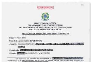 Documento do Ministério da Justiça Foto: Reprodução