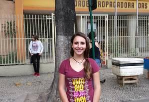 Letícia Guedes desistiu da redação porque sala estav com cheiro de mofo Foto: Amanda Moura