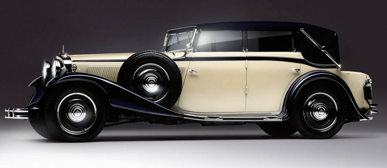 O modelo Maybach Zeppelin DS8, de 1932: renascimento da Mercedes-Benz para encantar os super-ricos Foto: Via Bloomberg/14-12-2009