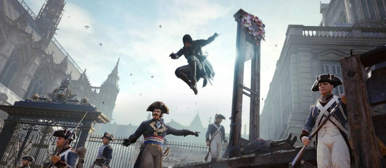 """""""Assassin's Creed Unity"""": título permite um passeio virtual pela França de 1789 Foto: Divulgação"""
