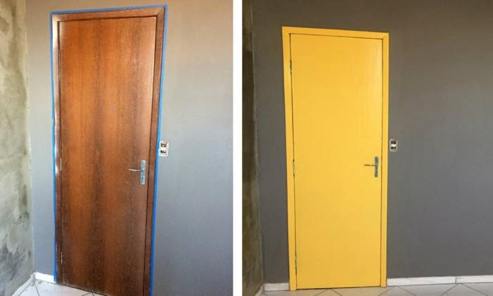 Fa a voc mesmo aprenda a pintar uma porta de madeira for Como elegir pintura para casa