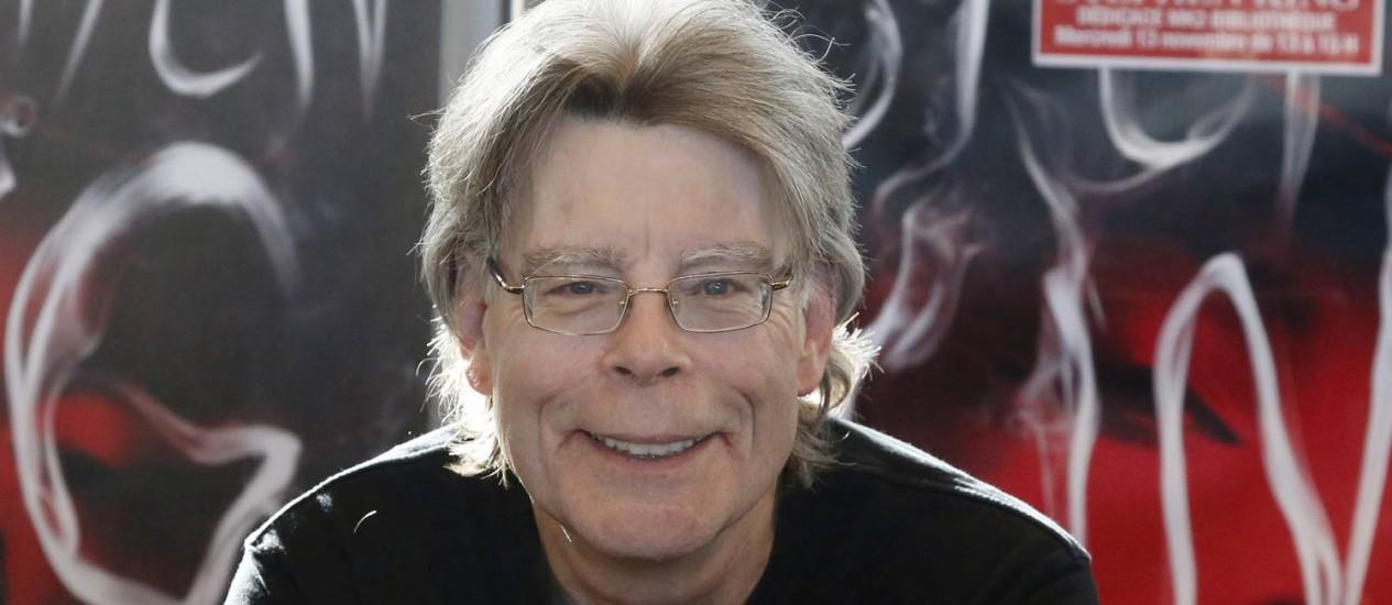 Stephen King em evento de divulgação de 'Doutor sono', continuação de 'O iluminado' Foto: Francois Mori / AP