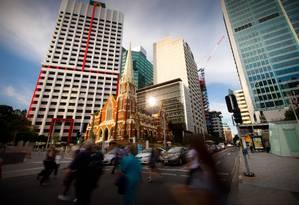 Edifícios do centro financeiro de Brisbane, Austrália, onde será realizada a reunião de cúpula do G-20 no fim de semana Foto: Patrick Hamilton / Bloomberg